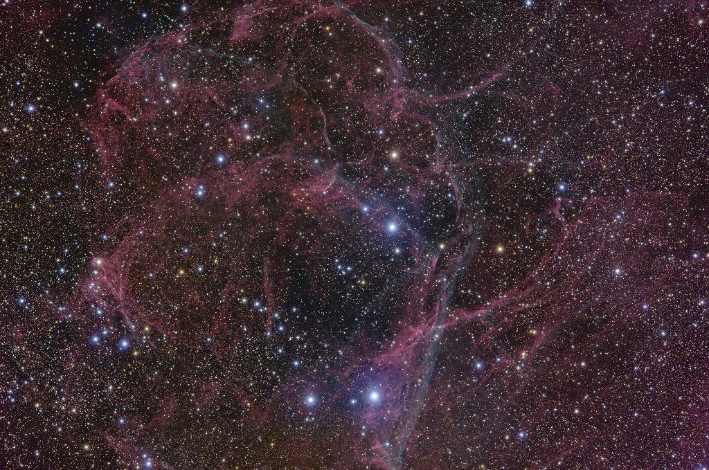 Le rémanent de la supernova des Voiles
