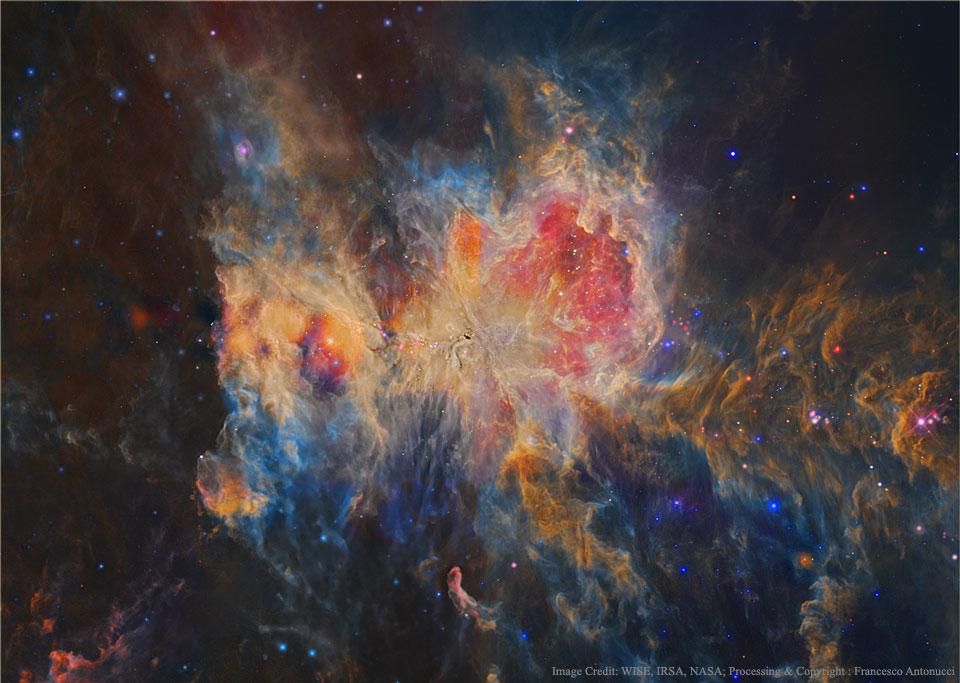 Orion en infrarouge par Wise