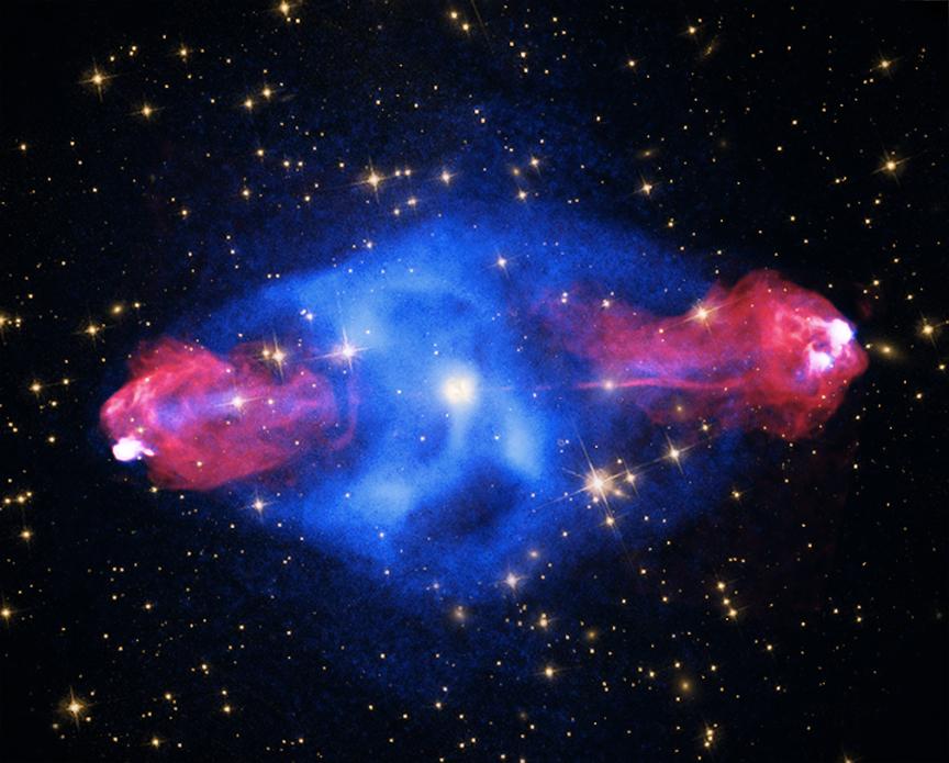 Les lumières de Cygnus A