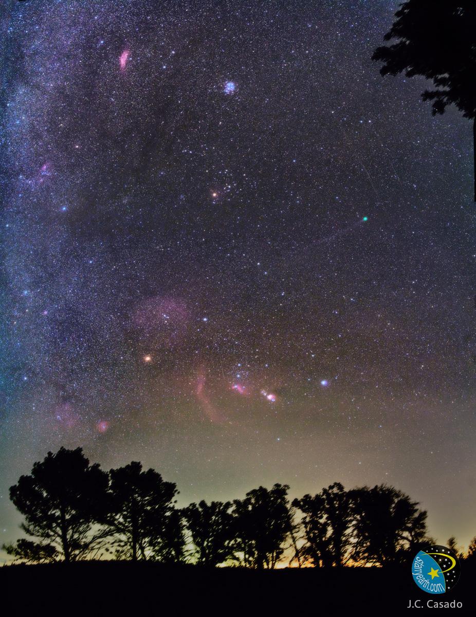 La comète Lovejoy dans un ciel d\'hiver