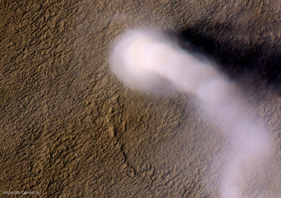 Un diable de poussière sur Mars
