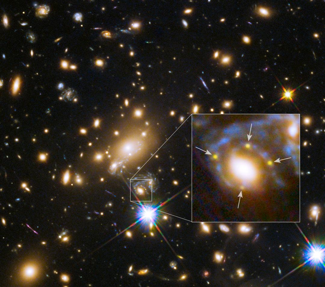 Quatre images pour une même supernova
