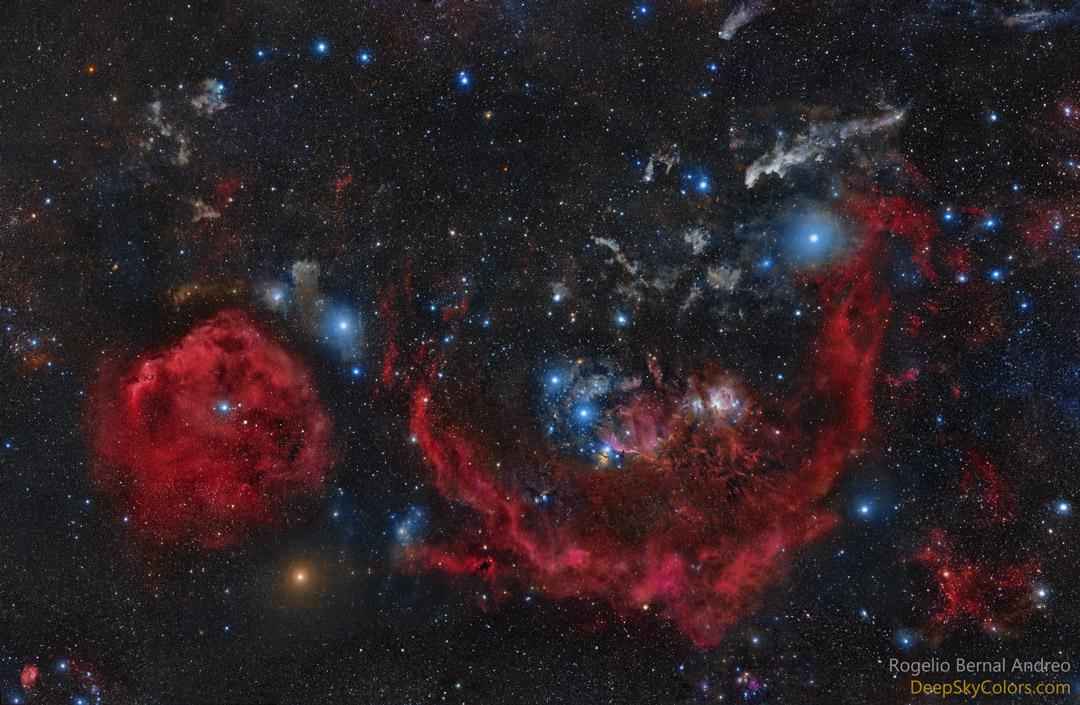Les nuages d\'Orion le chasseur
