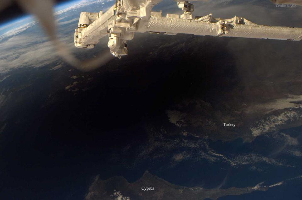 La Terre pendant une éclipse