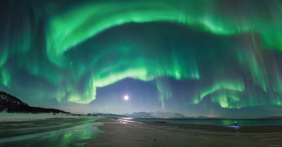 Aurore inéspérée sur la Norvège