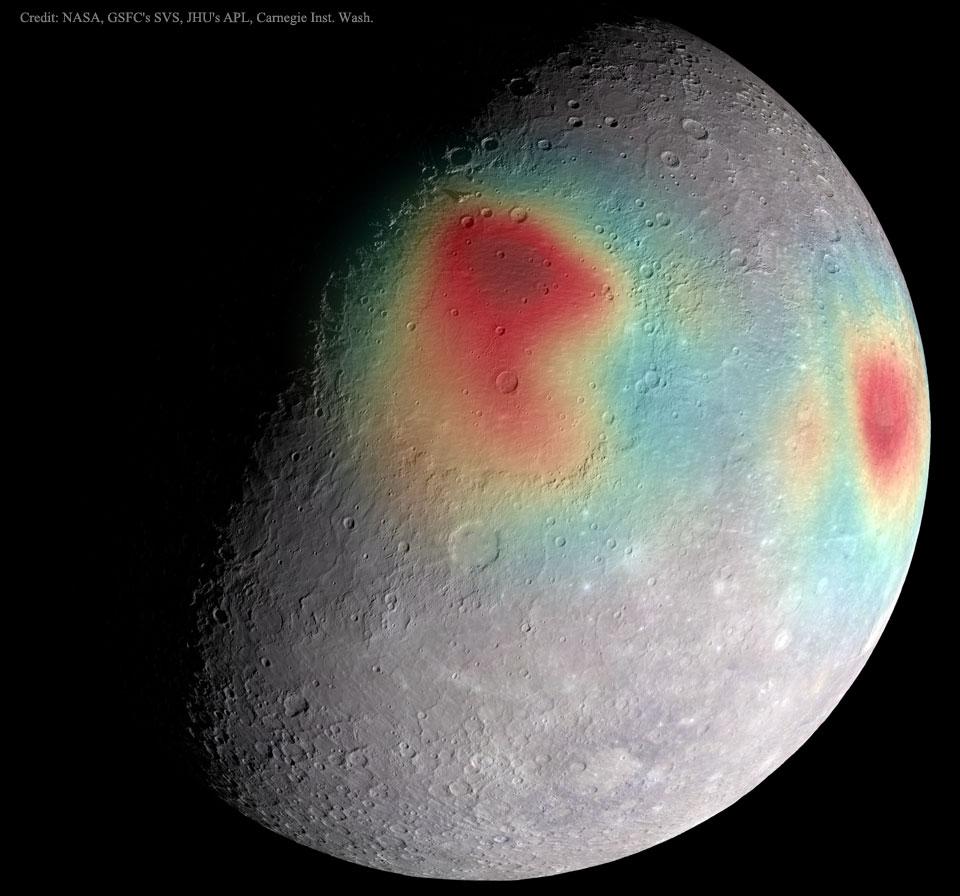 Anomalies gravitationnelles sur Mercure