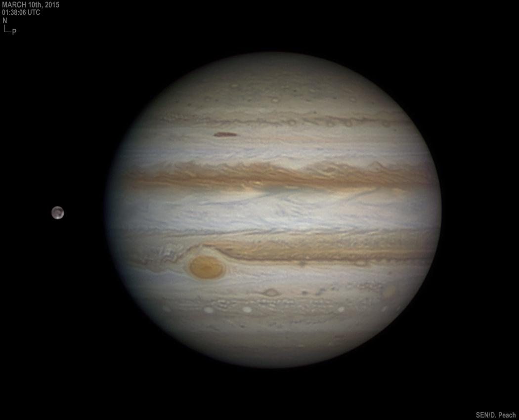 Jupiter, Ganymède et la Grande tache rouge