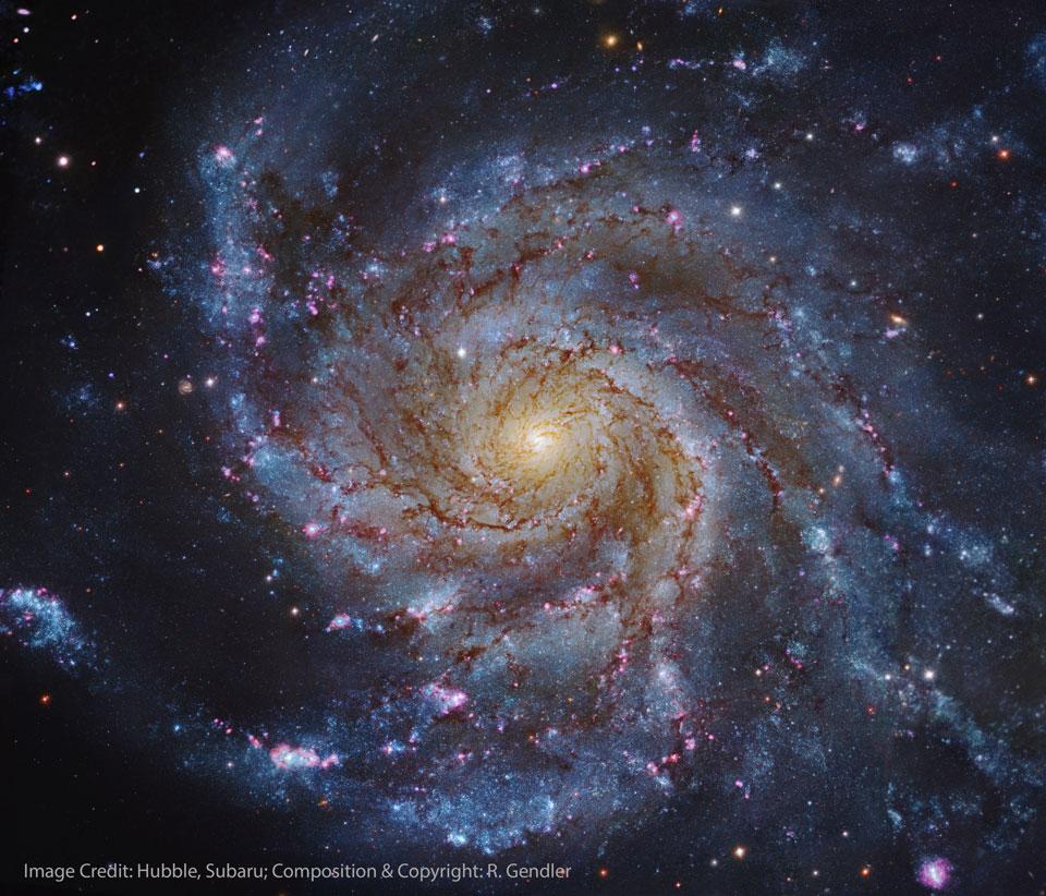 M101, galaxie du moulin à vent