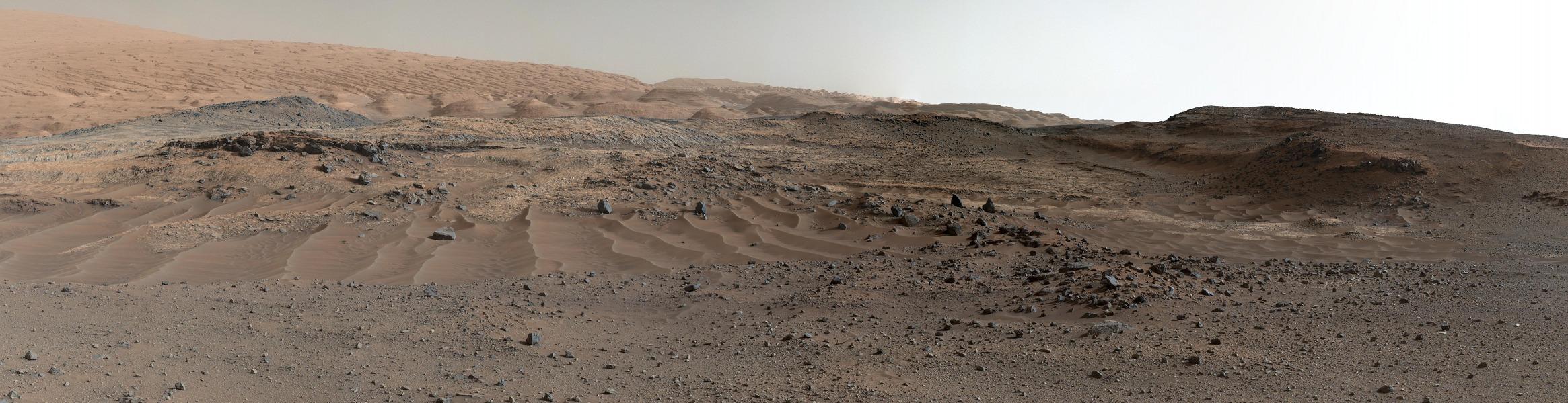 La vue depuis Curiosity