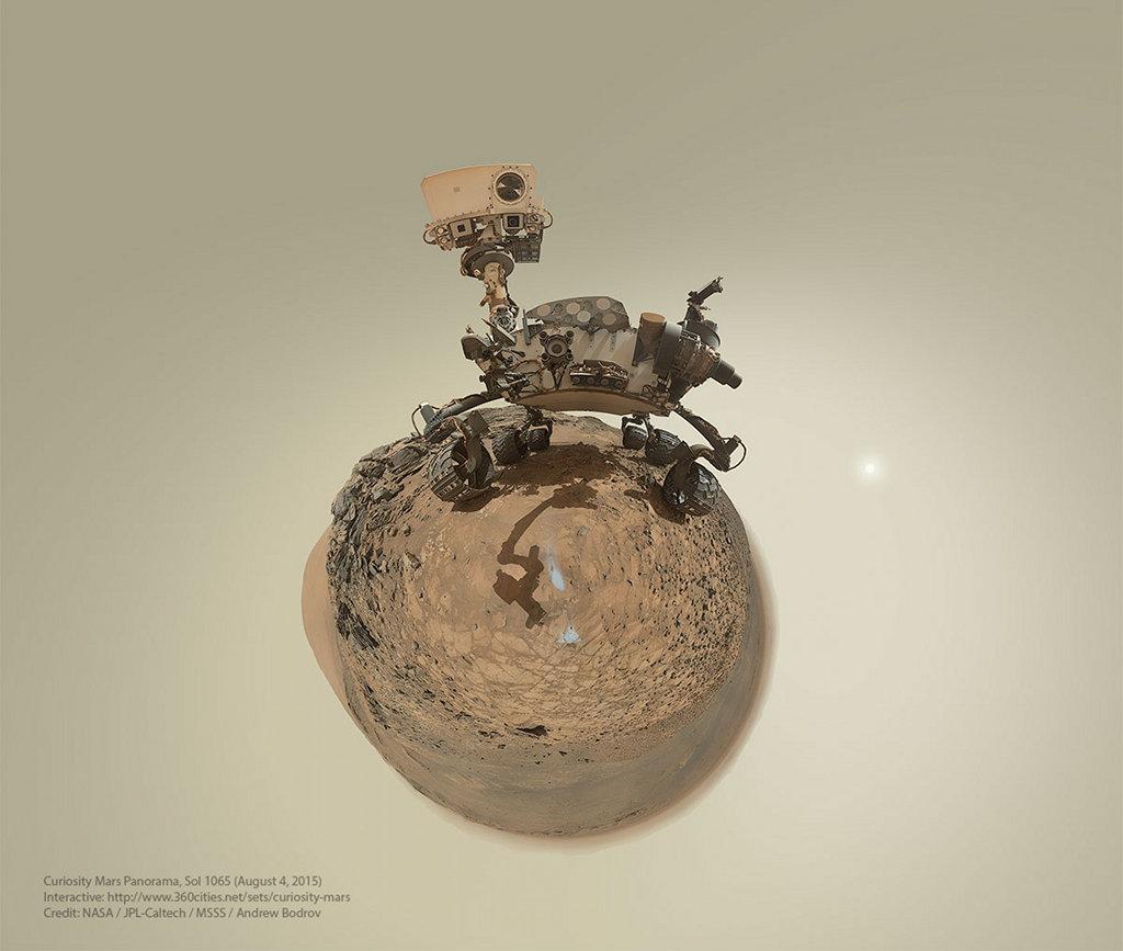 La petite planète de Curiosity