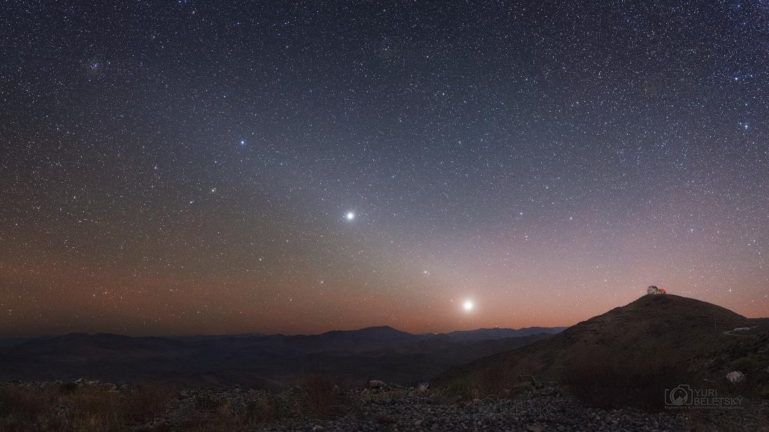 Planètes du matin sur l\'écliptique