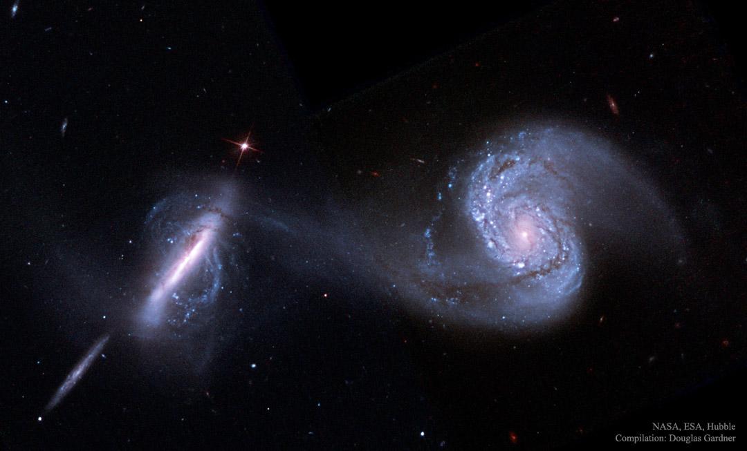 Arp 87, galaxies en voie de fusion