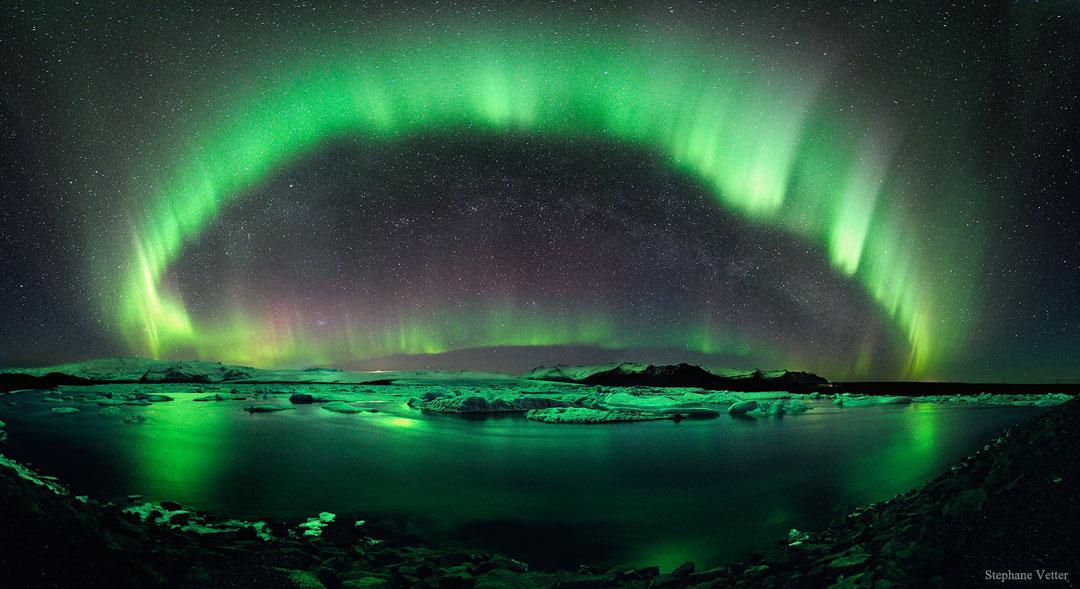 Nuit étoilée sur l\'Islande