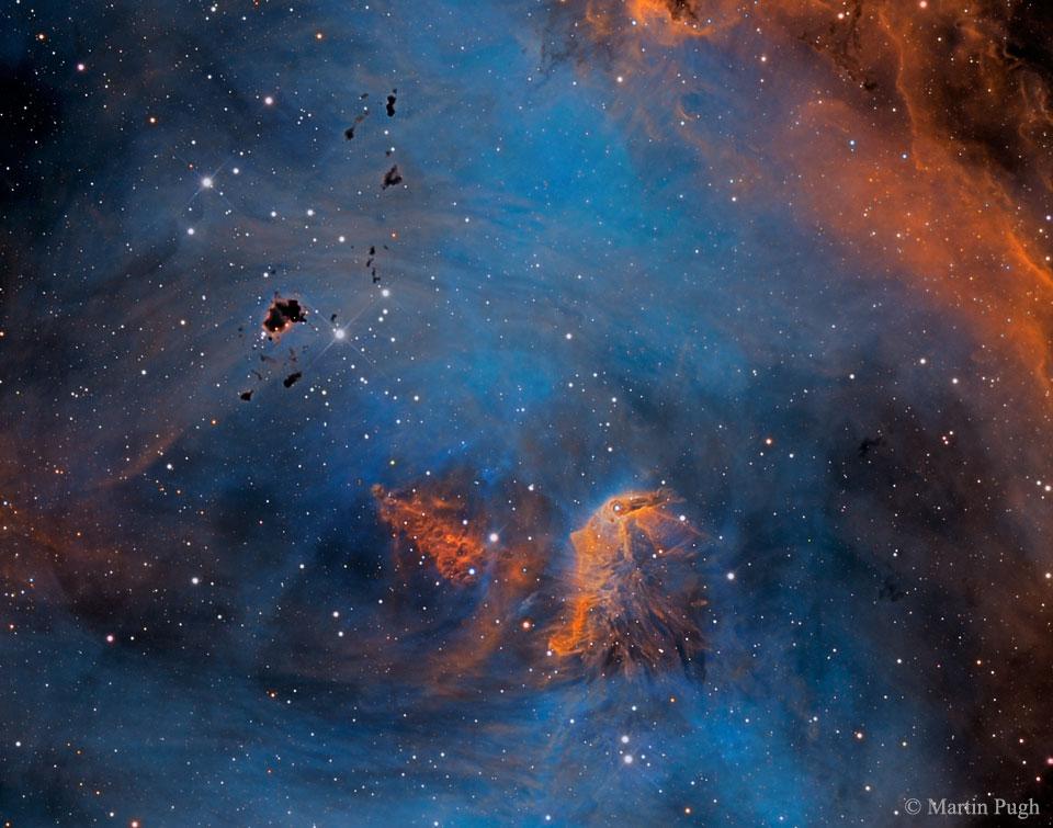 Etoiles et globules dans IC 2944