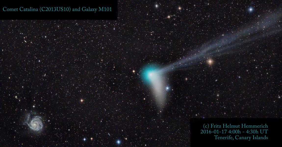 La comète Catalina du côté de M101
