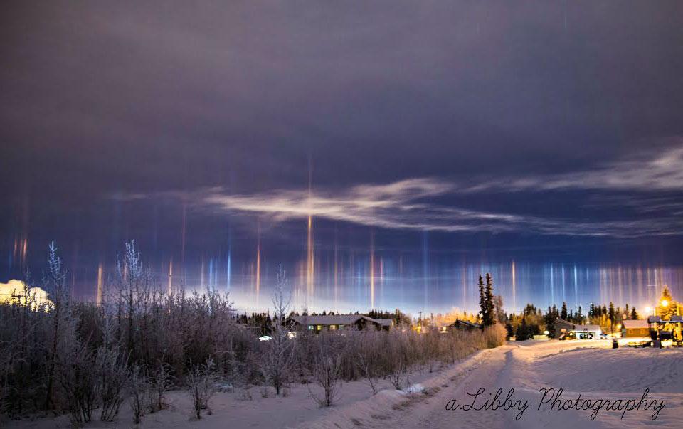 Piliers de lumière sur l\'Alaska