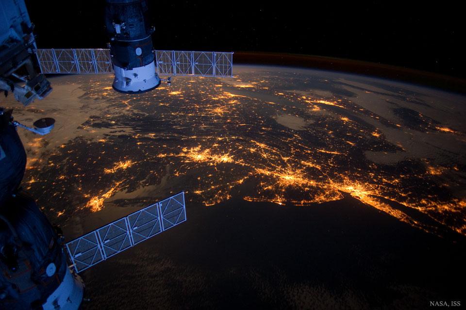 La Mégalopole de la Côte Est vue de l\'espace