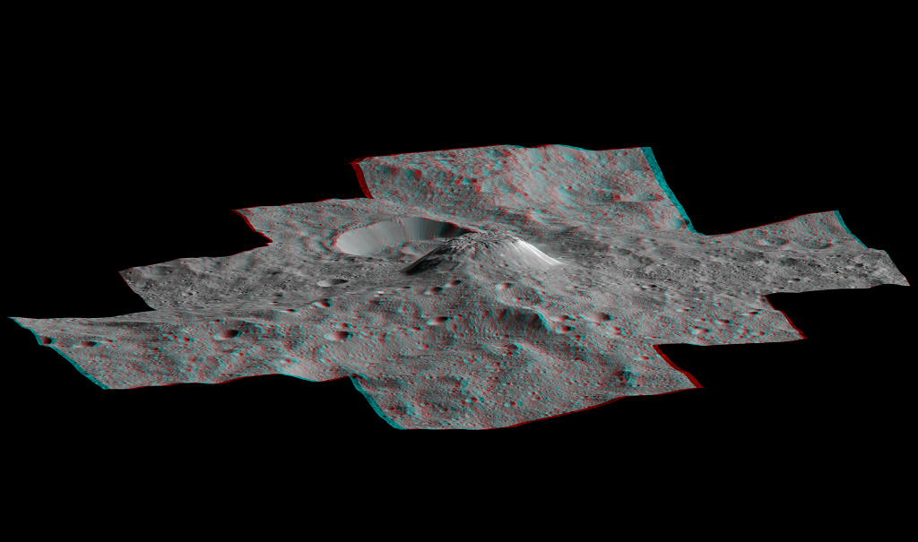 Ahuna Mons en trois dimensions