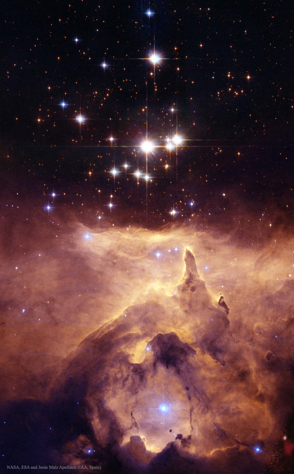 Une cathédrale d\'étoiles massives