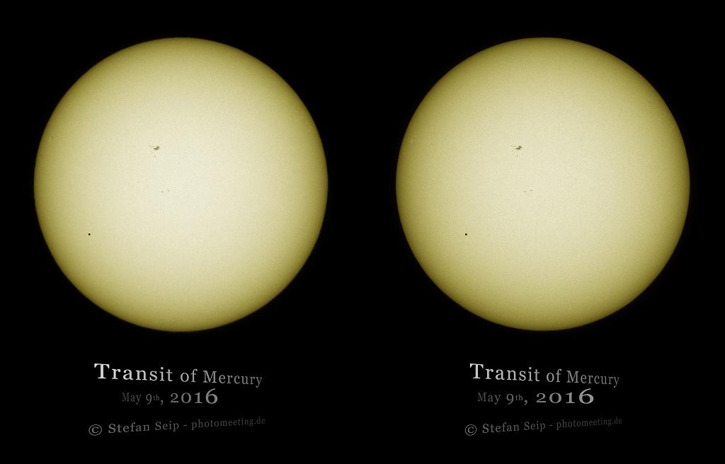 Le transit de Mercure en relief