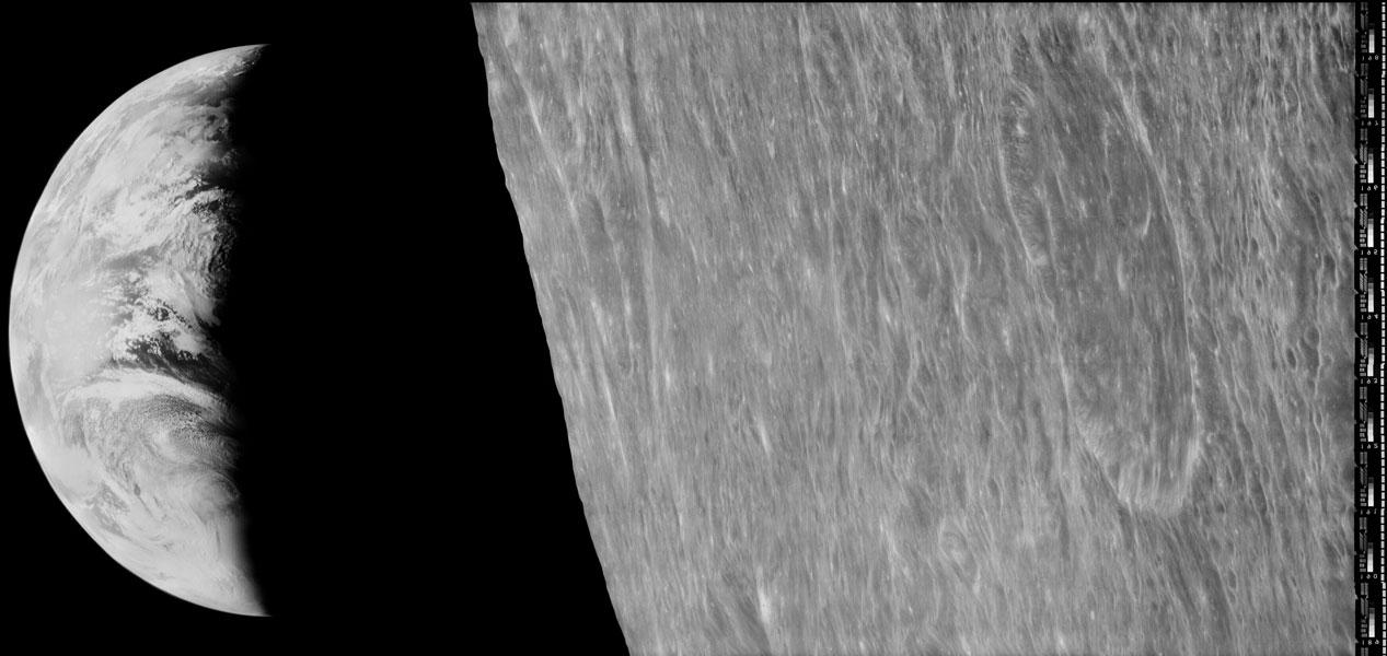 Le premier coucher de Terre