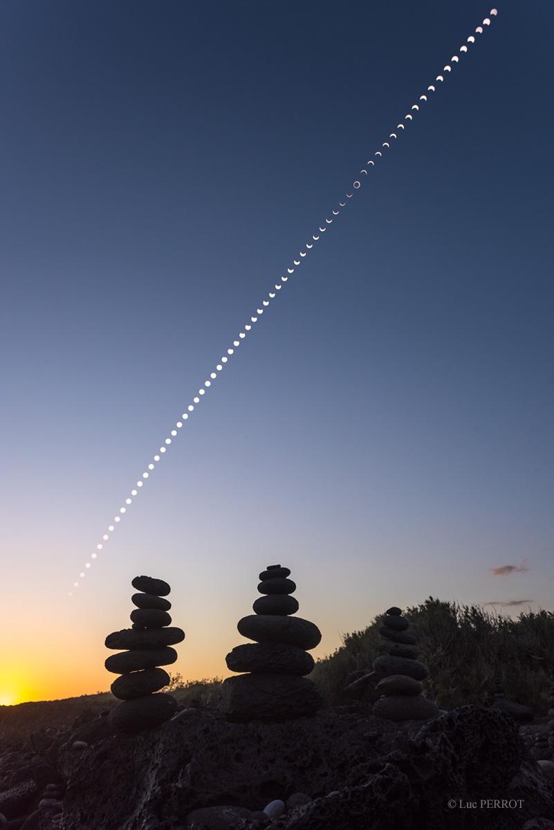 De l\'éclipse jusqu\'au coucher du Soleil