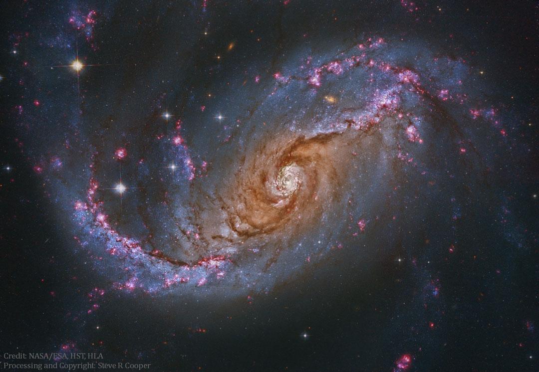 La galaxie spirale barrée NGC 1672