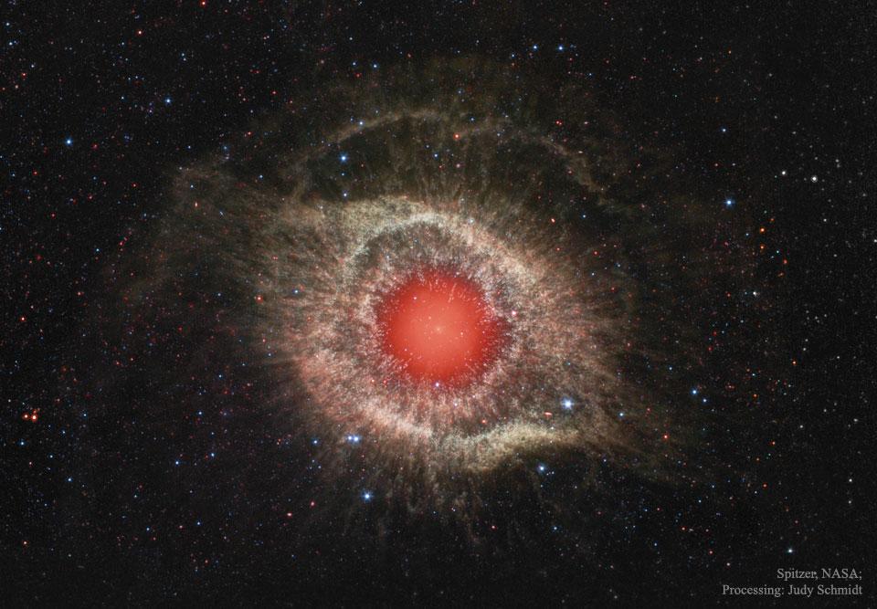 La nébuleuse Helix en infrarouge