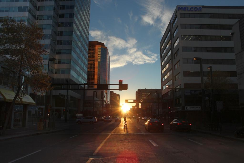 Coucher de Soleil sur Edmonton