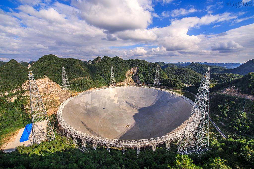 Le télescope sphérique à ouverture de 500 mètres (FAST)