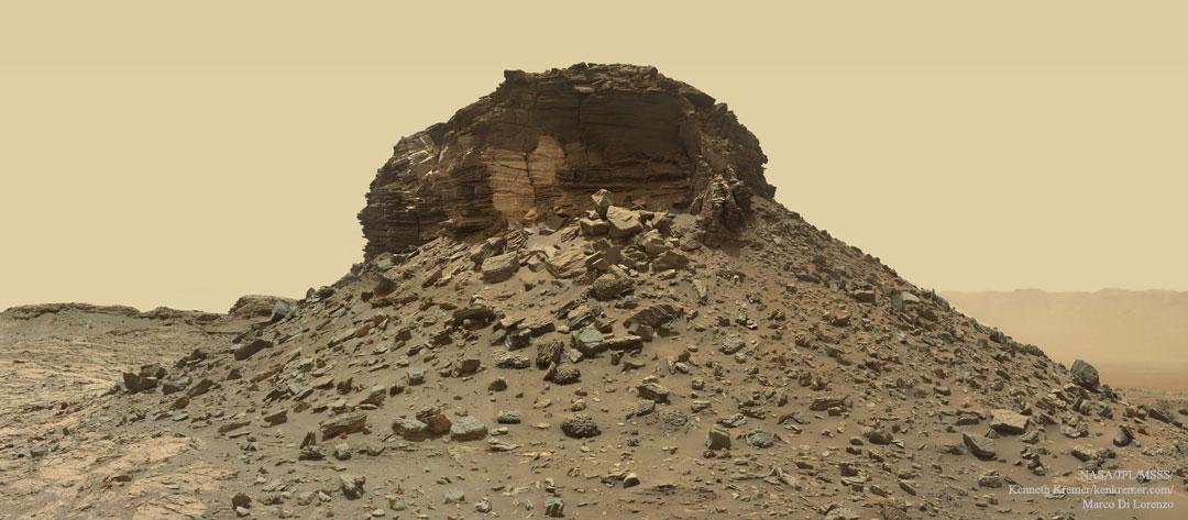 Butte martienne érodée