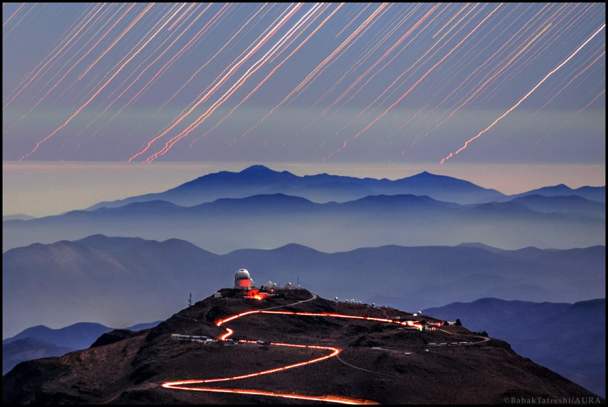 Filé d\'étoiles sur le Cerro Tololo