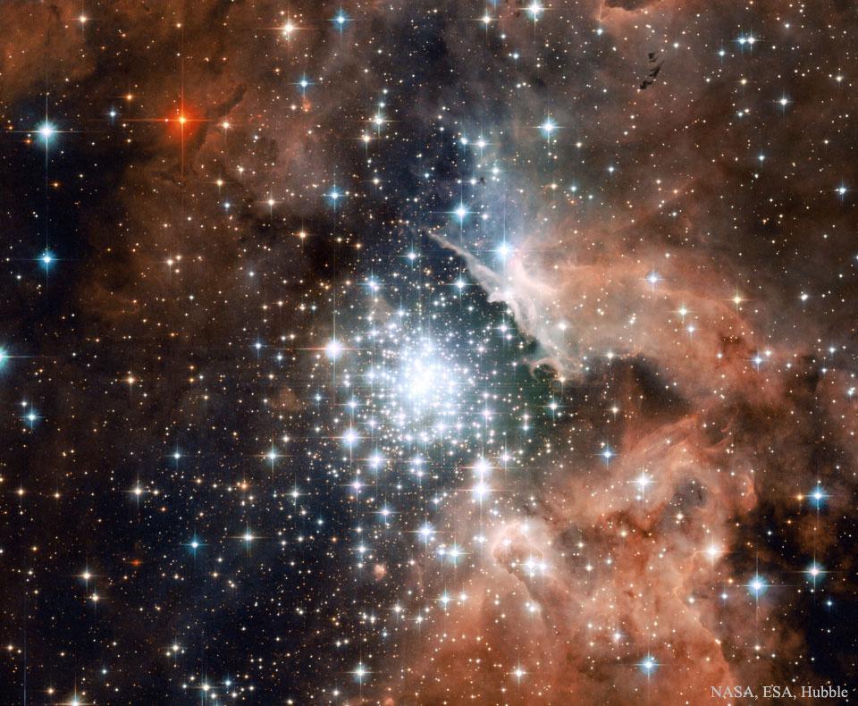 Flambée d\'étoiles en amas dans NGC 3603