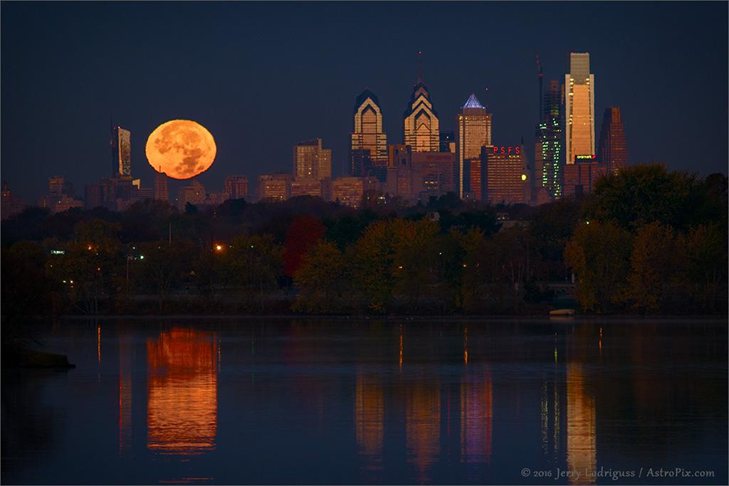 Philadelphie et la Pleine Lune du périgée
