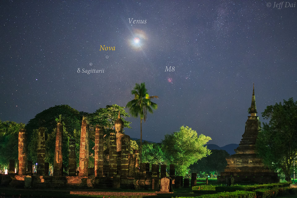 Supernova au-dessus de la Thaïlande