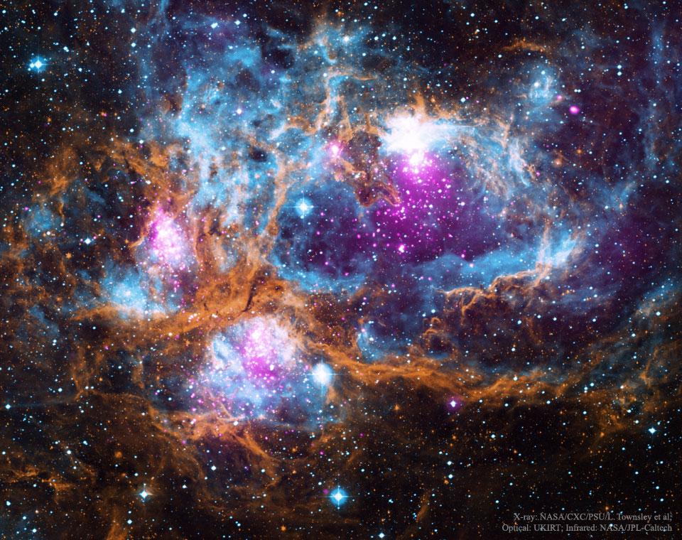 NGC 6357, le Pays des Merveilles