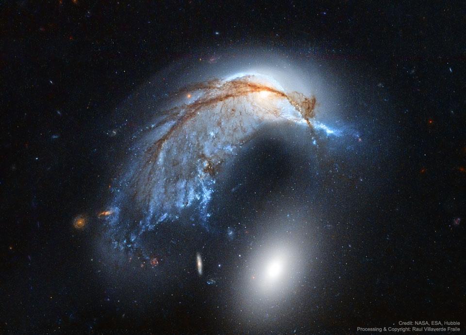 La galaxie du Marsouin vue par Hubble