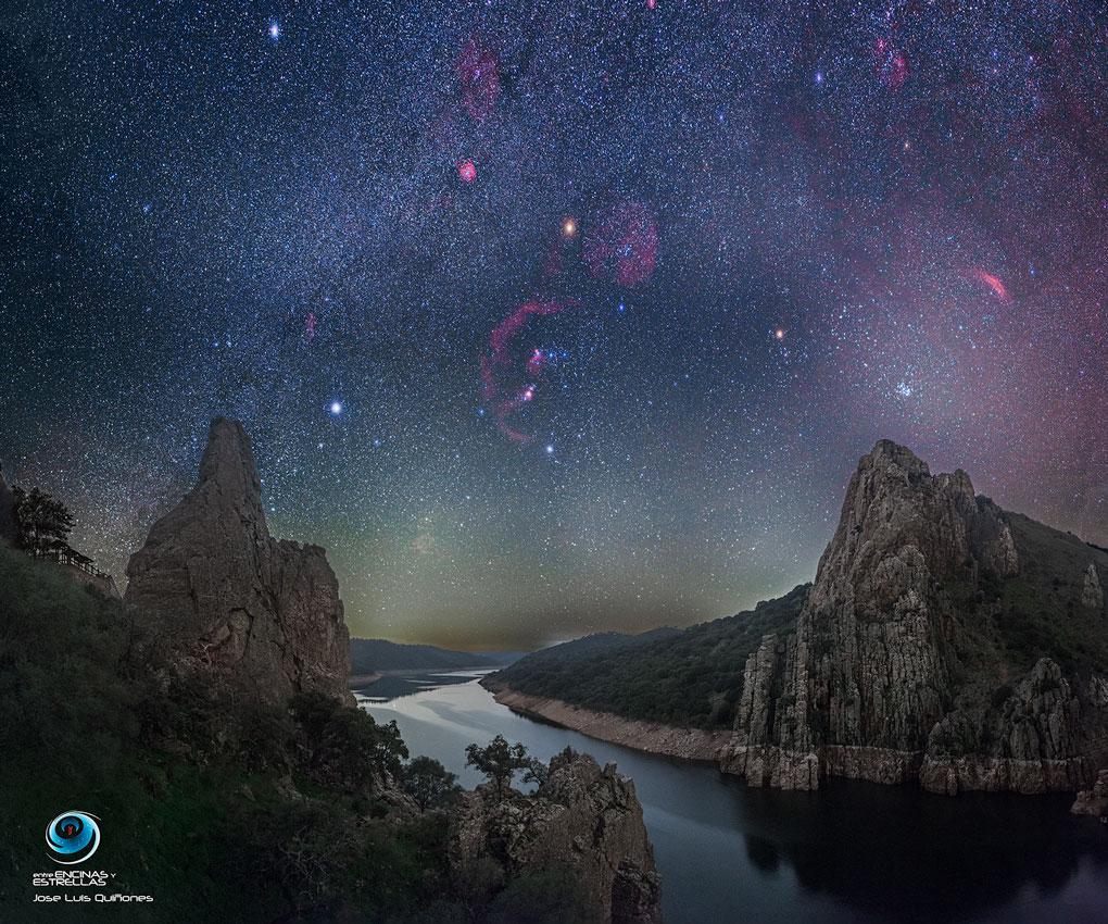 Réserve naturelle de ciel d\'hiver en Espagne