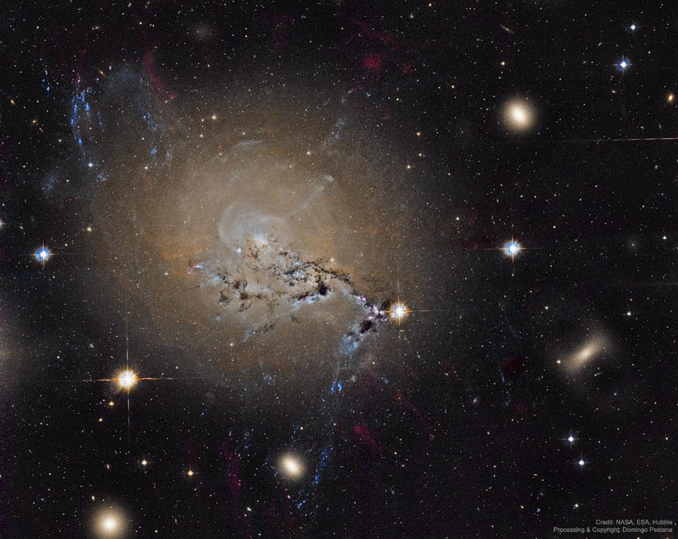 Les filaments de la galaxie active NGC 1275