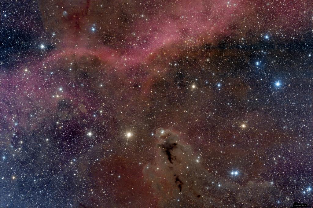 La nébuleuse sombre LDN 1622 et la boucle de Barnard