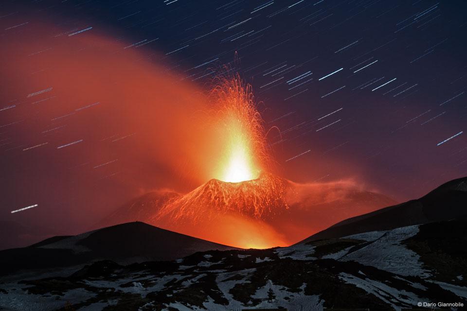 Le panache de lave du Mont Etna