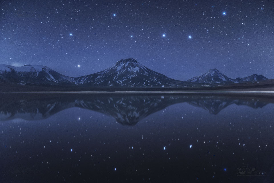 La Grande Louche au-dessus et au-dessous des volcans chiliens