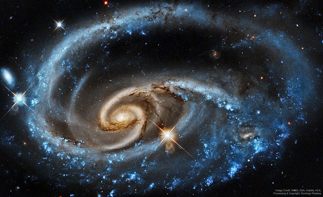 UGC 1810, la galaxie sauvage vue par Hubble