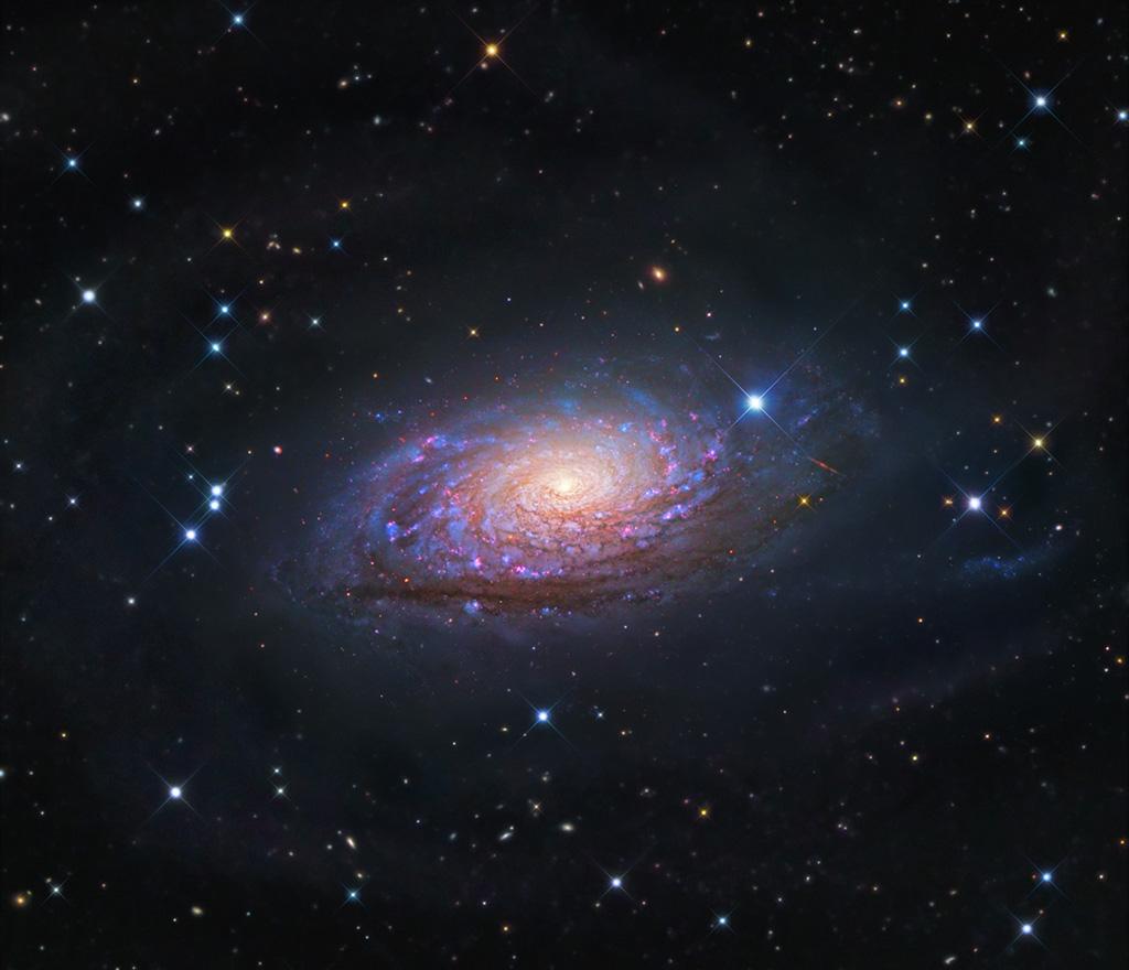 Messier 63, la galaxie du Tournesol