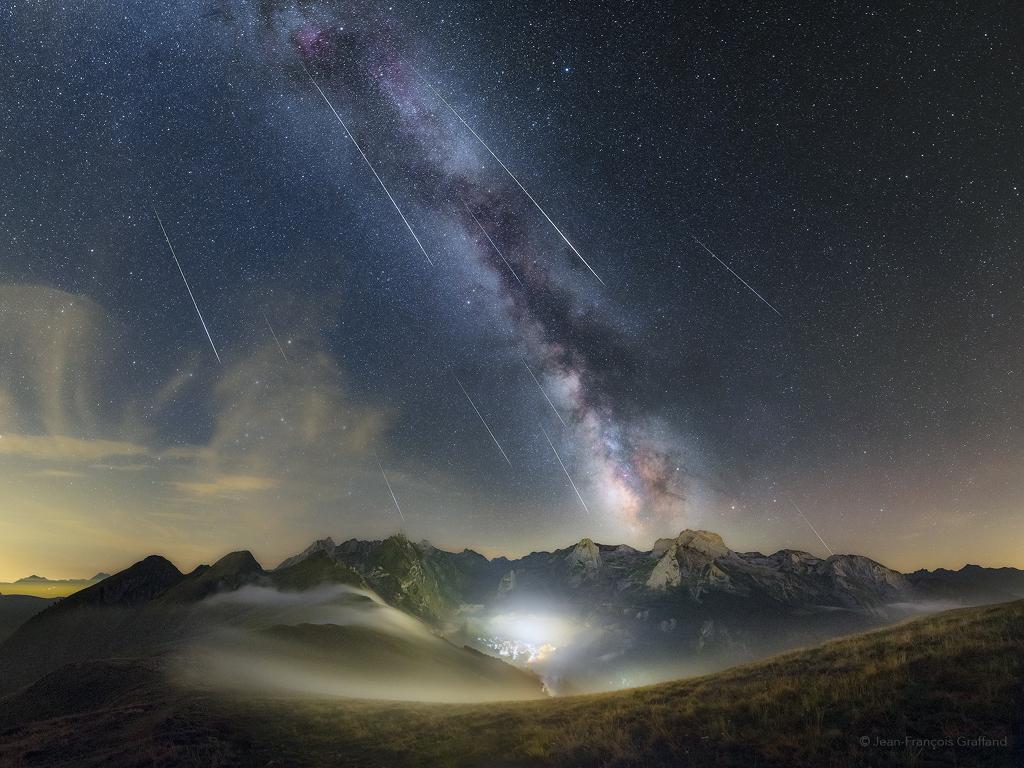 Les Perséides au-dessus des Pyrénées
