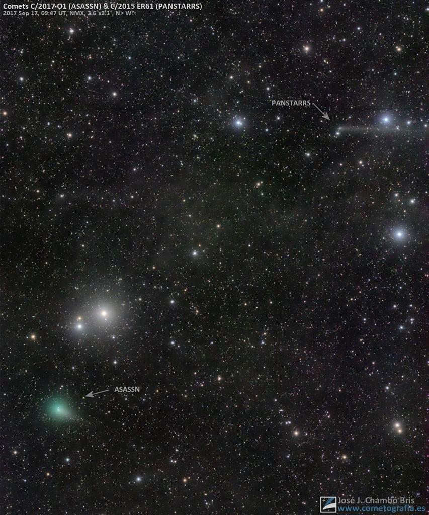 Conjonction de comètes au petit matin