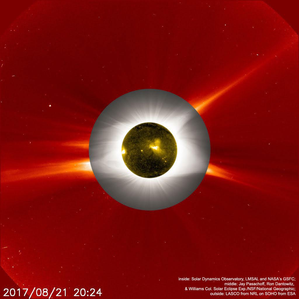 Millefeuille d\'éclipse de Soleil