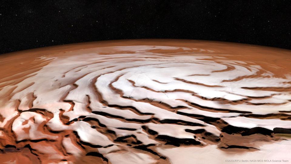 La spirale du pôle Nord de Mars