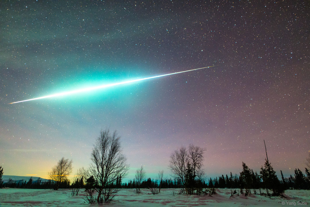 Boule de feu sur l\'Arctique