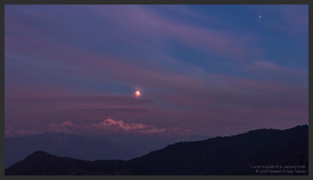 Lever de Lune éclipsée